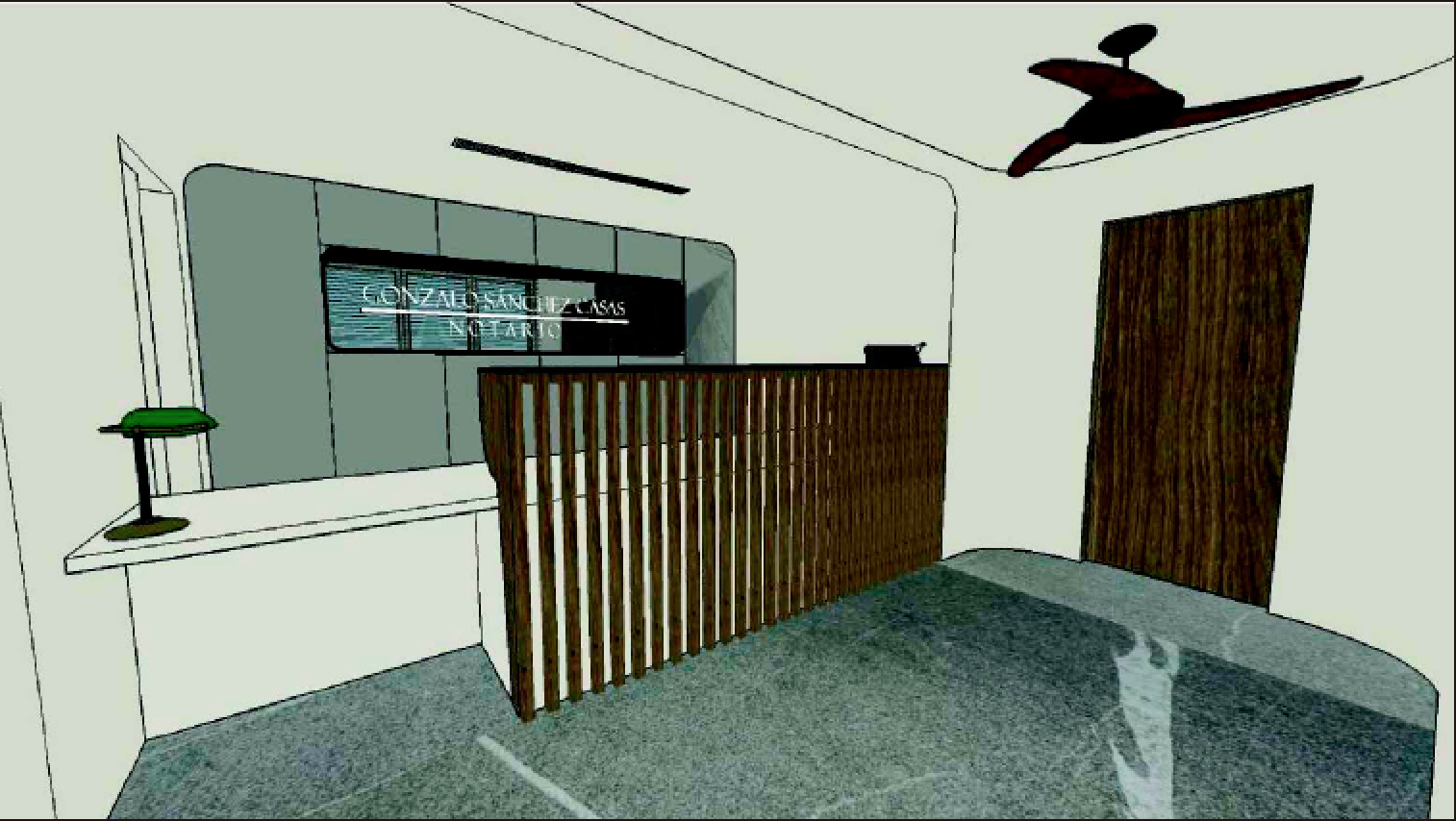 Notaría Gonzalo Sánchez Casa. Imagen virtual.