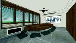Sala de firmas Notaría Gonzalo Sánchez Casas. Imagen virtual proyecto.