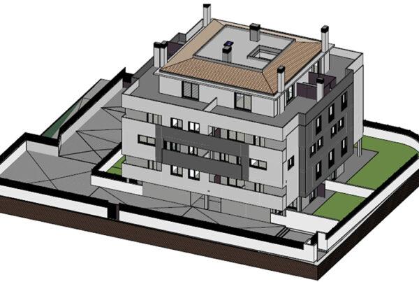 Imagen virtual palazzinas Lardero